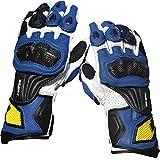 QARYYQ Outdoor Sports Racing Motorradhandschuhe Lange Bruchsichere Handschuhe, Eine Vielzahl Von Farben Handschuh (Farbe : Blau, größe : L)