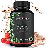 BIO Vitamin C Aus Natürlichem Bio Acerola Extrakt - 240 Vegane Kapseln Für 4 Monate + Natürliche Bioflavonoide & Laborgeprüft Aus Deutschland