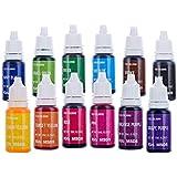 Jelife Colorant Alimentaire Nourriture Liquide Dye Flo Concentré sans Sucre 12 Pcs 10ml pour Coloration Boissons Pâte