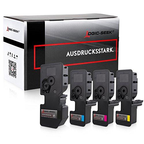 4 Logic-Seek Toner kompatibel zu Kyocera TK-5220 für Kyocera Ecosys M-5521cdn M-5521cdw P-5021cdn P-5021cdw
