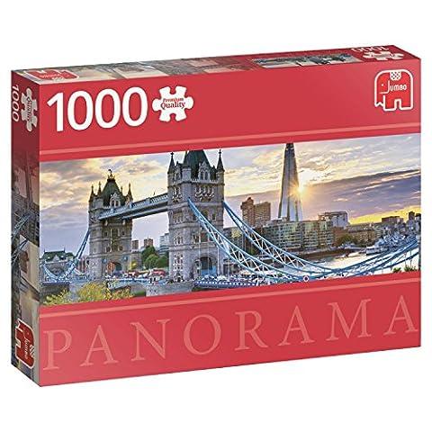 Jumbo Jumbo Premium Puzzle Collection 'Tower Bridge, London' 1,000 Piece Panoramic Jigsaw Puzzle