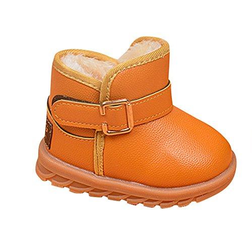 LaoZan Baby Stiefel Kinderschuhe Warme Bootsschuhe Wasserdicht Schuhe Winterschuhe Gelb 23