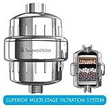 pH Energize 8-Stufen-Duschfilter - filtert Schadstoffe - Weiches Wasser - erhöht pH-Wert - Einfache Installation - Kompatibel mit Vielen Duschköpfen