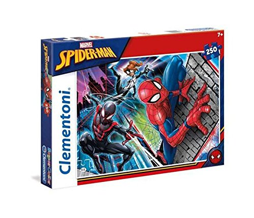 Clementoni- Spiderman Supercolor Puzzle, 250 Pezzi, 29053