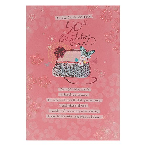 Hallmark 50th Birthday Card For Her 'Laughter And Fun' - Medium