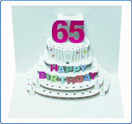 Forever Tarjeta de felicitación de cumpleaños Pop-up en 3D 65cumpleaños Tarta de cupones 16x 11cm