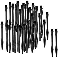 Sharplace Lot de 60pcs 54mm 2BA Porte-Empennages Barres de Fléchettes Re-Grooved Dart Stems Shafts - Noir
