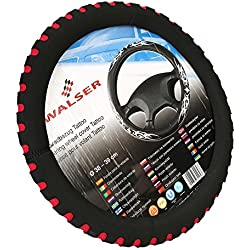 CICMOD EVA Anti Slip Auto Car Steering Wheel Cover 38cm-39cm Red