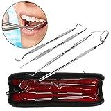 Aiming 4pcs / Set Dientes de Acero Inoxidable Kits para el Cuidado Dental limpie el Gancho Higiene Explorador de Sonda