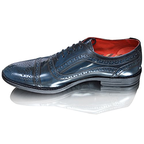 Base London , Chaussures richelieu homme Bleu