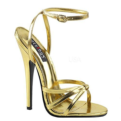 Higher-Heels - Scarpe con cinturino alla caviglia Donna oro opaco