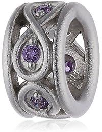 Endless 41353-5 - Abalorio de plata con circonita