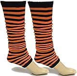 A-Express Mujer Chicas Rayas Calentadores de piernas para tutú Disfraces - Naranja