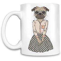 Pug girl Taza para café