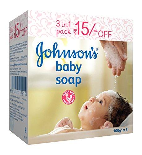 Johnson's Baby Soap 100g (Pack of 3)