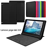 asng Lenovo Yoga Tab 38Case-Slim Faltbarer Ständer Cover Smart Case für 2015Lenovo Yoga Tab38Zoll Tablet Schwarz