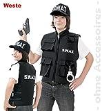 Unbekannt Kinder Kostüm SWAT Weste Polizist Karneval Fasching Gr.164