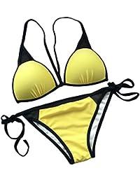 BFUSTYLE Womens Sexy Swimwear Push Up Acolchada Cortada Bikini Set Traje de Baño Traje de Baño