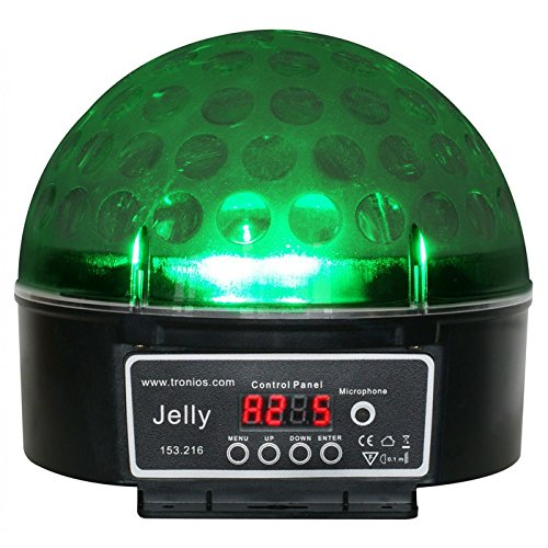 Beamz Magic Jelly DJ Ball LED-Lichteffekt (6-Kanal DMX, musikgesteuert, 3 Watt RGB LED)