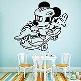 yaoxingfu Estilo de Dibujos Animados ratón Pegatinas de Pared A Prueba de Agua Arte de La Pared Decoración para Las Habitaciones del bebé Tatuajes de Pared Pegatinas Mu 58cm X 62cm