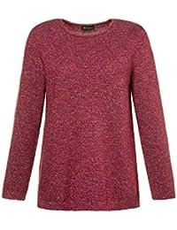 APART Sweater Ajour Pullover Damen Große Größen Feinstrick Weiß Rundhals SALE