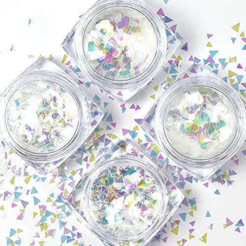 QIMEIYA 12 Formas Confeti Plásticos Iridiscente Escamas