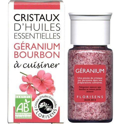 Florisens - cristales aceites esenciales geranio bourbon