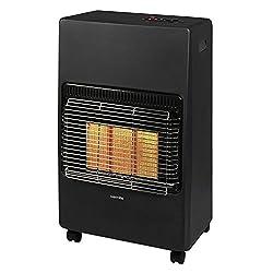 Warmlite Portable Gas Heater on Wheels with Anti-Tilt Device, Black