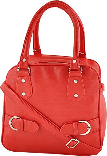 Typify Casual Shoulder Bag With Sling Belt Women & Girl's Handbag (Red)