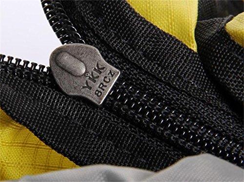 rampicanti esterni della spalla borsa uomini e donne borsa da viaggio borsa borsa trekking zaino 45L ( Colore : Giallo , dimensioni : 45L ) Arancia