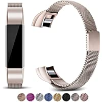 For Fitbit Alta Strap and Alta HR Metal Bands, Mornex Milanese Stainless Steel Adjustable Replacement Accessory Straps for Fitbit Alta (HR) Fitness Wristband