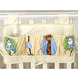 Betttasche 60x35cm Spielzeugtasche für Babybett Kinderbett Hängeutensilo Utensilo
