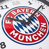 FC Bayern München Stylische Wanduhr / Uhr / Wall Clock mit Quarzuhrwerk Ø 35 cm FCB - plus gratis Aufkleber forever München