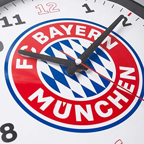 FC Bayern München Mouvement à Quartz Horloge Murale/Horloge/Wall Clock Stylée avec Ø 35cm?Plus Autocollant Offert Forever Munich
