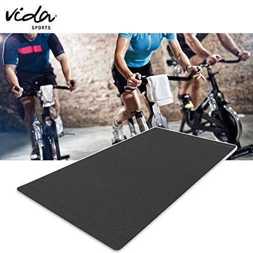 Protect Floor Unterlegmatte Bodenschutzmatte Multifunktionsmatte für Fitnessgeräte Heimtrainer Crosstrainer (90 x 200 cm)