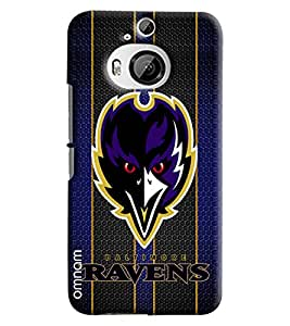 Omnam Ravens Printed Designer Back Cover Case For HTC One M9 Plus