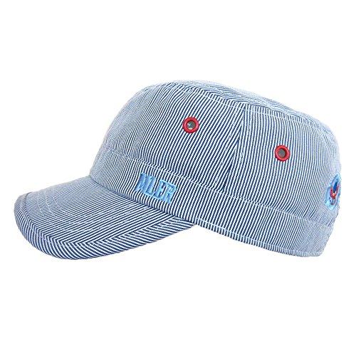 Baseball Flat Caps Kappe Baby Kind Junge Stickerei Streifen Baumwolle Frühling Sommer Sonnenhut, L (Cap Baseball Baby)