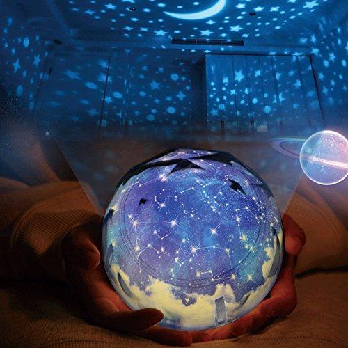 Proyector Lámpara Estrellas Luz de Noche, Arfbear Romántica Noche Estrellada Lámpara para Proyector de Luz para Fiesta en casa Cumpleaños Decoraciones Luces Niños Juguetes Regalo Habitación Dormitorio