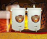 Hoppy Doppio Fermentatore 55 Litri Completo Ermetico Unico Nel Web X 110 Litri Birra!