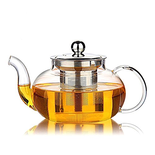 TGL Co. Luxury Teas Glass Teapot Kettle with Infuser - Removable Stainless...