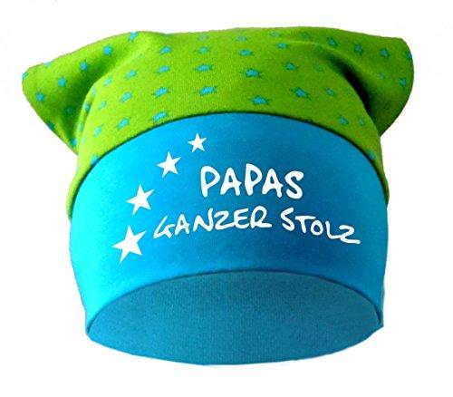 Baby KOPFTUCH Mütze (Farbe lime-royal) (Gr. 2 (68-98) Papas ganzer Stolz /FAT