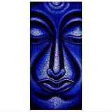 Apalis Flächenvorhang Set Buddha in Nepal 250x120cm | Schiebegardine Schiebevorhang Raumtrenner Vorhang Raumteiler Gardine Paravent Wandbild XXL Deko Dekor | Größe HxB: 250x120cm ohne Halterung