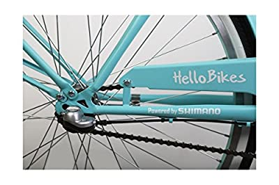 Citybike mit Trittbremse, Damen Stadtrad, 26-Zoll-3-Gänge, Shimano NEXUS, Türkis