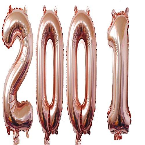 2001Luftballons 101,6cm Rose Giant Jumbo Helium Folie Mylar Luftballons für 17. Geburtstag Party Dekoration