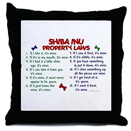 CafePress-Shiba Inu Property Laws 2-Überwurf Kissen, dekoratives Kissen, Cover Only -