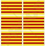 """Cataluña Bandera de Cataluña España Español 40mm (1,6"""") Mobile teléfono celular Mini de vinilo pegatinas, calcomanías x6"""