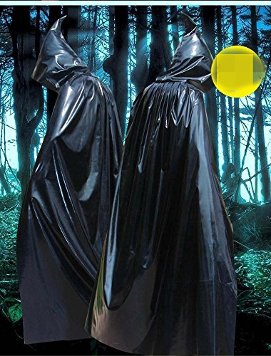 Halloween Umhang Cosplay Tod Mantel Gold hell Tuch Mantel mit Mütze das Teufel Mantel Kleid Festival / Halloween / Weihnachten, D (Renaissance Festival Kleider)