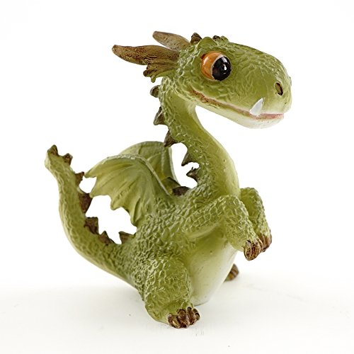Top Collection 4412 Miniatur Fairy Garden & Terrarium Mini Dragon Statue, klein