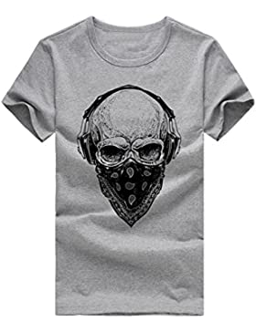 Camiseta de hombre,SHOBDW muchacho muchacho más la camiseta de la impresión de manga corta talla grande de Camiseta