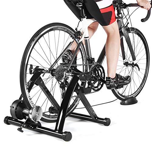 GONGJU Indoor Heimtrainer Heimtraining 6-Gang Magnetwiderstand Bike Road Trainer MTB Bike Trainer Fahrradrolle -